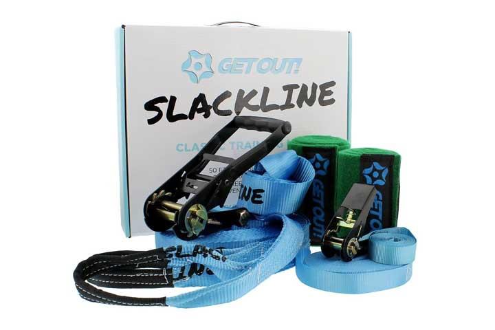Get Out! Slackline Beginner Kit for Kids and Adults