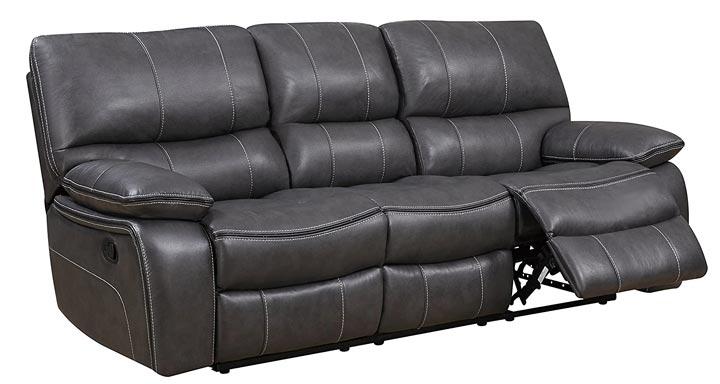 Global Furniture 3 Seater Reclining Sofa - GreyBlack