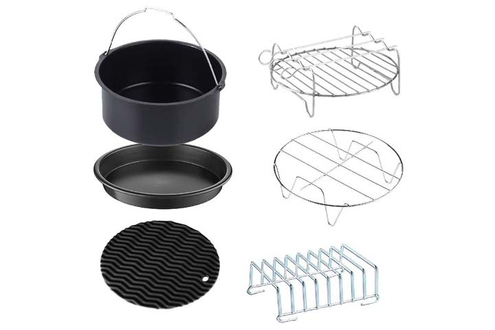 GoWISE USA Standard 6-Piece Air Fryer Accessory Kit