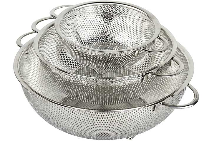 HOLM 3-Piece Stainless Steel Colander
