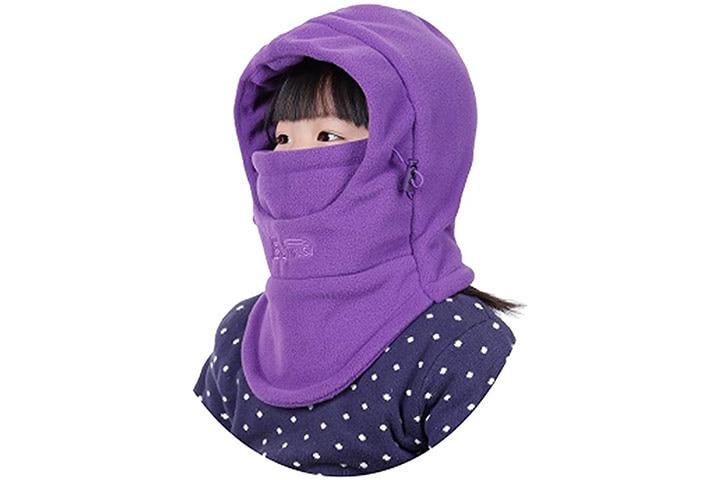 HZTG Kids Winter Windproof Balaclava - Purple