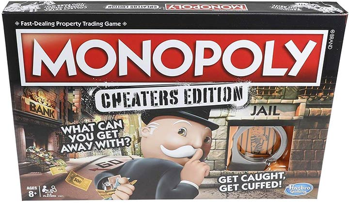 Hasbro Monopoly Game Cheaters Edition