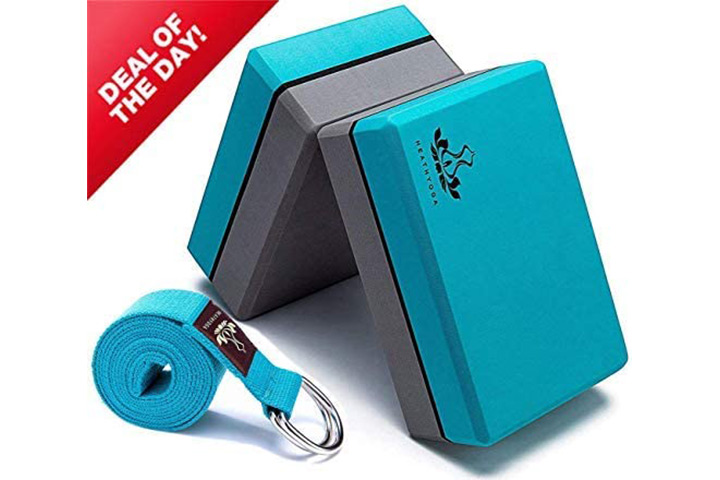 Health yoga Yoga Block and Yoga Strap Set