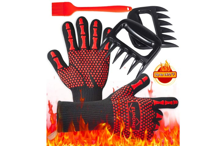 Heat Resistant Gloves with accessories by EUHOME
