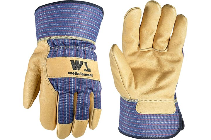 Heavy Duty Work Gloves with Leather Palm