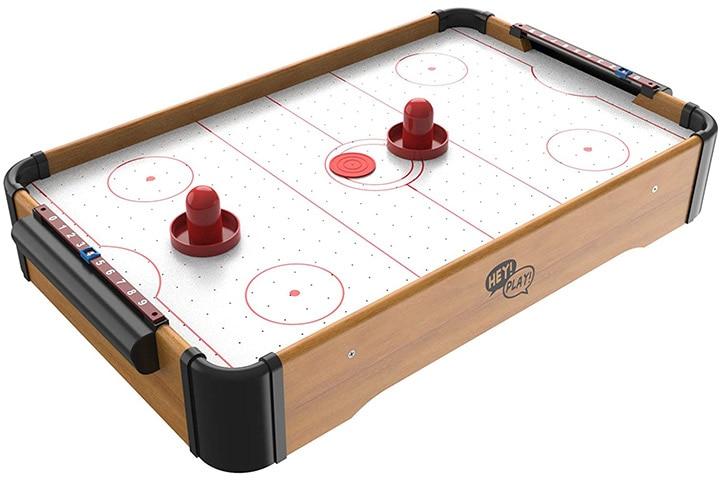 Hey Play Mini Arcade Air Hockey Table