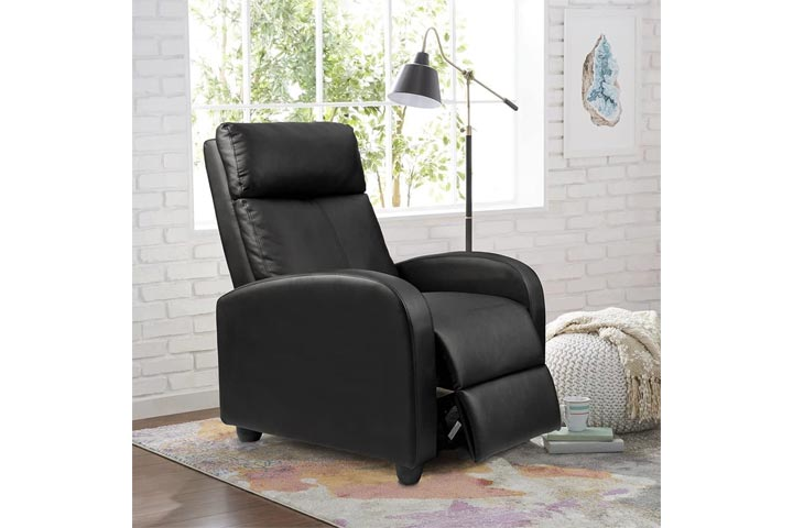 Homall Recliner Padded PU Leather Recliner Chair