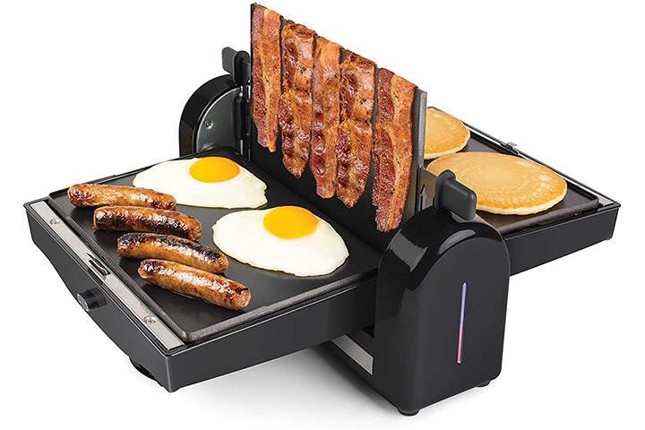 HomeCraft FBG2 Nonstick Electric Bacon Press & Griddle