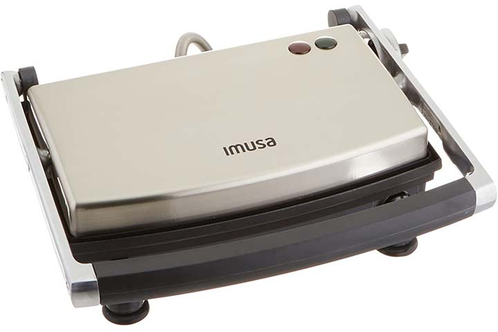 IMUSA USA GAU-80103 Electric Stainless Steel Panini Maker