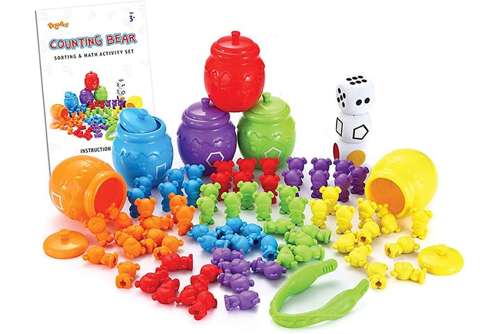 JoyIn Play-Act Counting Sorting Bears Toy Set with Matching Sorting Cups