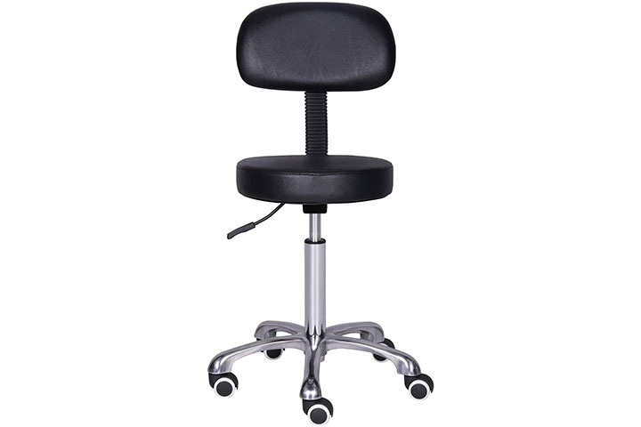 Kaleurrier Rolling Swivel Adjustable Heavy Duty Drafting Stool Chair