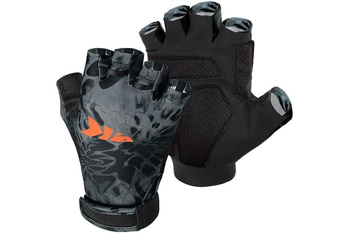 KastKing UV Protection Unisex Fingerless Gloves