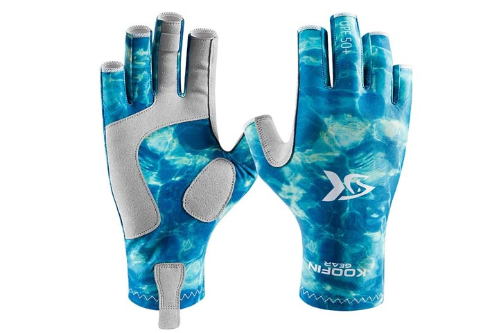 Koofin Gear Fishing Gloves Sun Protection Fingerless Gloves