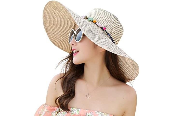 Lanzom Wide Brim Hat For Women