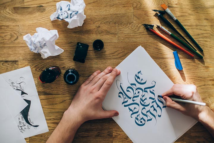 Learn calligraphy or hand lettering