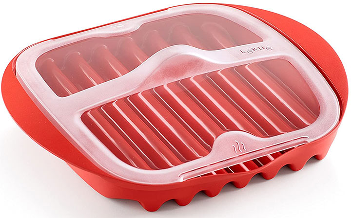 Lekue Microwave Bacon Maker/Cooker with Lid