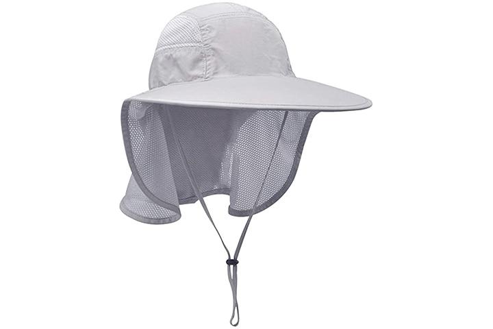 Lenikis Unisex Sun Protection Hats With Neck Flap