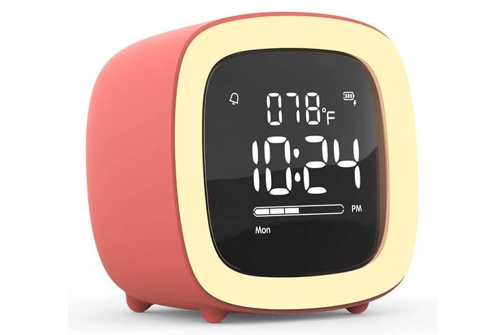 Lielongren Cute-TV Night Light Alarm Clock