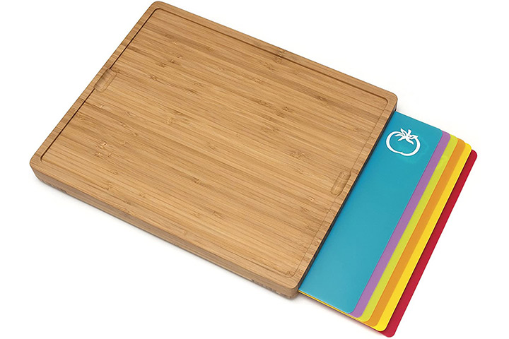 Lipper International 8869 Bamboo Wood Cutting Board with Inlay Mats