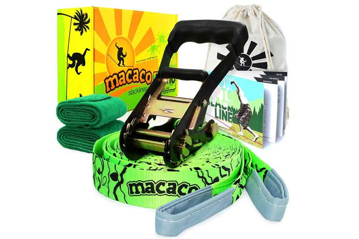 Macaco Firetoys Slackline Complete Set 52x 2 (16 Metre) and Booklet