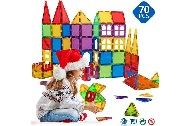 Magnetic Blocks - Magnetic Toys for Toddlers Kids Magnetic Building Blocks