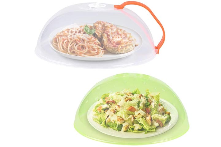 Microwave Plate Cover, Anti-Splatter Plate Lid with Steam Vents