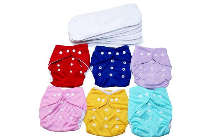 Momy Mom Reusable Baby Cloth Diapers