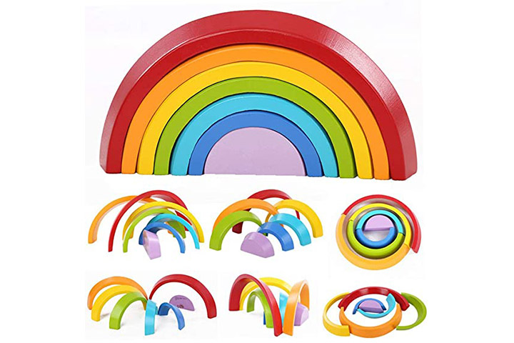 Montessori Wooden Rainbow Toy