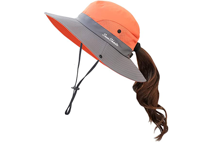 Muryobao Sun Protection Hat With Ponytail Hole