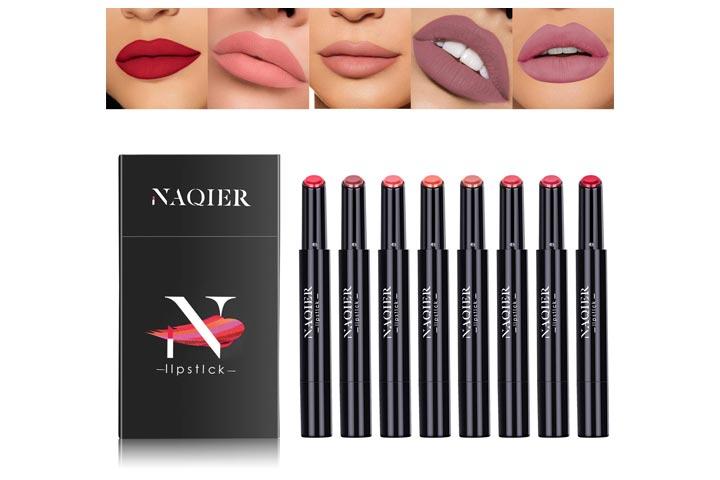 NAQIER Matte Lipstick Set, 8PCs