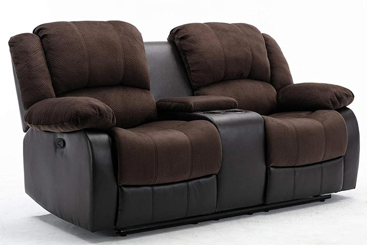 NHI Express Aiden Motion 2 Seater Reclining LoveSeat - Peat