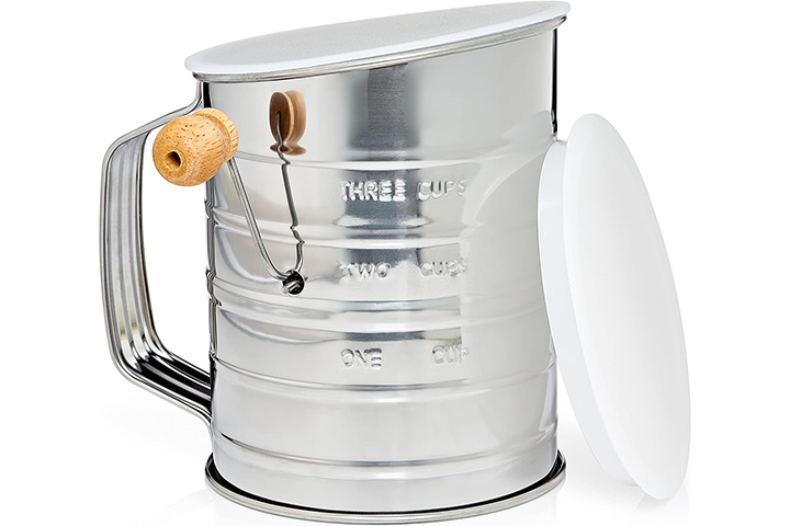 Natizo Stainless Steel Sifter With Lid
