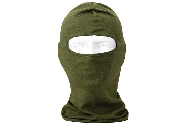NewNow Candy Color Ultra Thin Ski Face Mask - Army Green