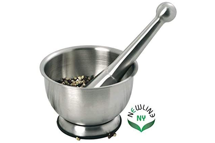 NewlineNY Stainless Steel Hand Mortar and Pestle Set