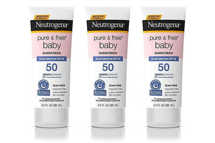 Nutrigina Pure and Free Baby Mineral Sunscreen Lotion