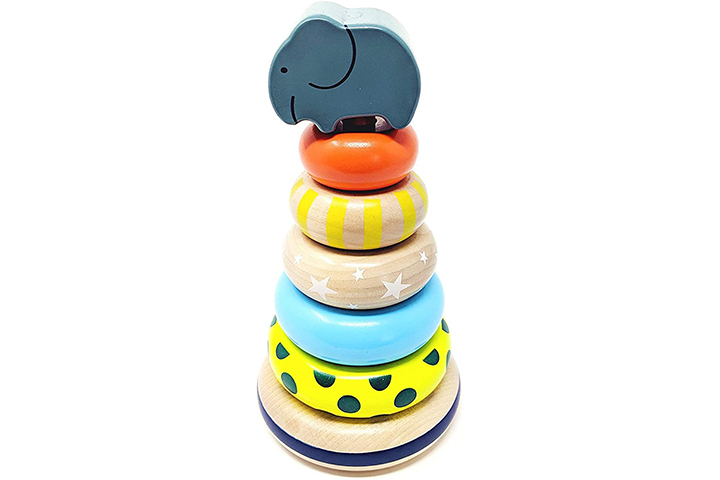 Orcamor Wooden Stacking Rings Toy