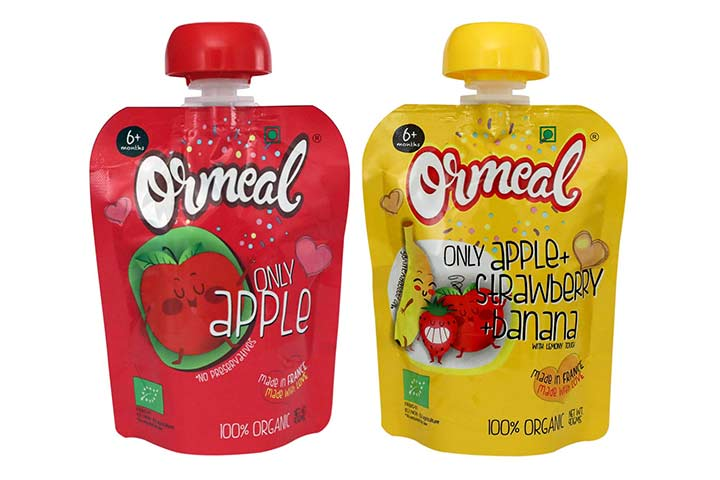 Ormeal 100% Organic Baby Food Puree Combo