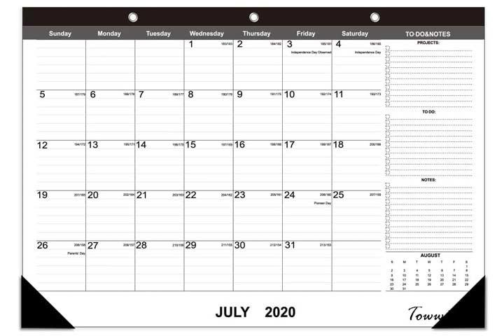 OuMuaMua Desk Calendar 2020-2021