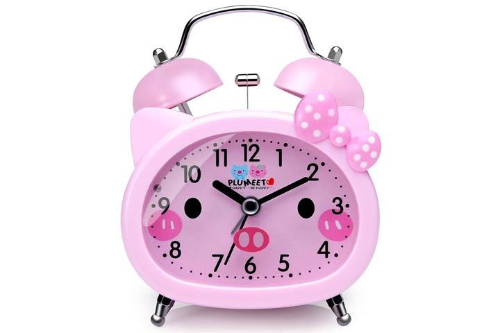 Plumeet Twin Bells Analog Alarm Clock For Kids