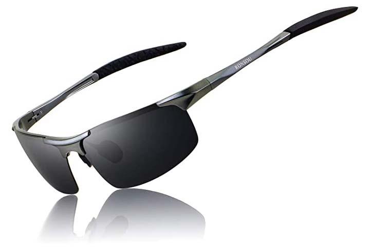 RONSOU Men Sport Polarized Sunglasses