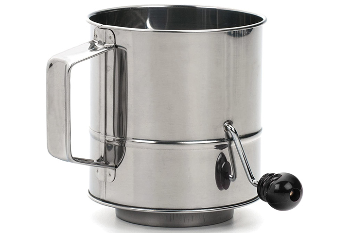RSVP International Stainless Steel Crank Style Flour Sifter