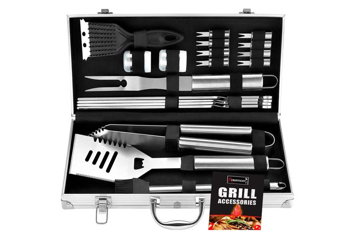 Romanticist 20Pc Heavy Duty Grill Set