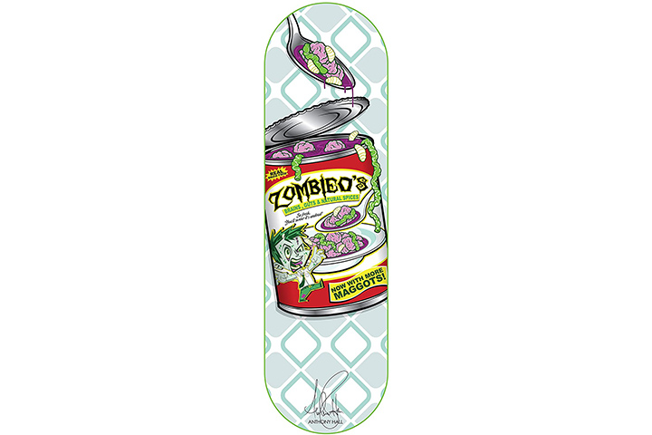 RudeBoyz 28 Inch Wooden Graphic Printed Display Skateboard Deck