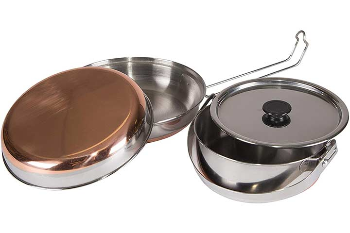 STANSPORT - Stainless Steel Mess Kit for Camping, Backpacking & Outdoors