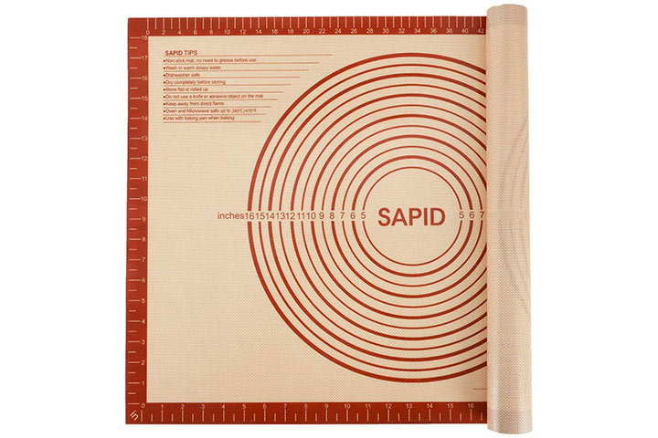 Sapid Extra Thick Silicone Pastry Mat Non-slip