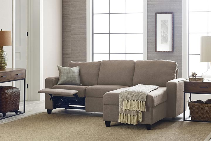 Serta Palisades Right Sectional Reclining Sofa With Built-In Storage