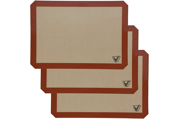 Silicone Baking Mat - Set of 3 Half Sheet By Velesco