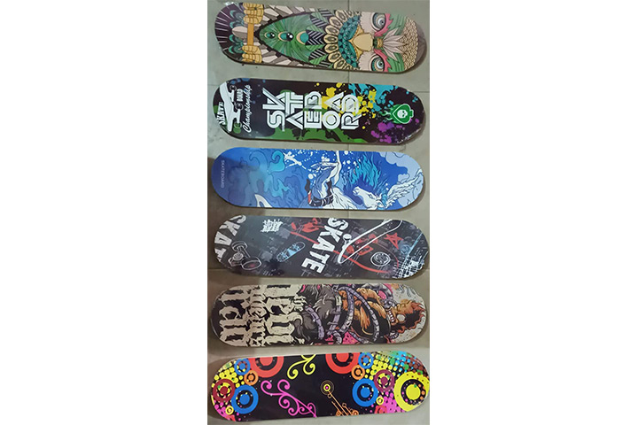 Skera Speed Printed Skate Board