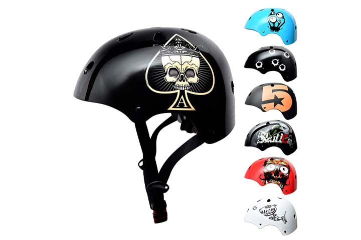 Skull Cap Skateboard BMX Bike Helmet