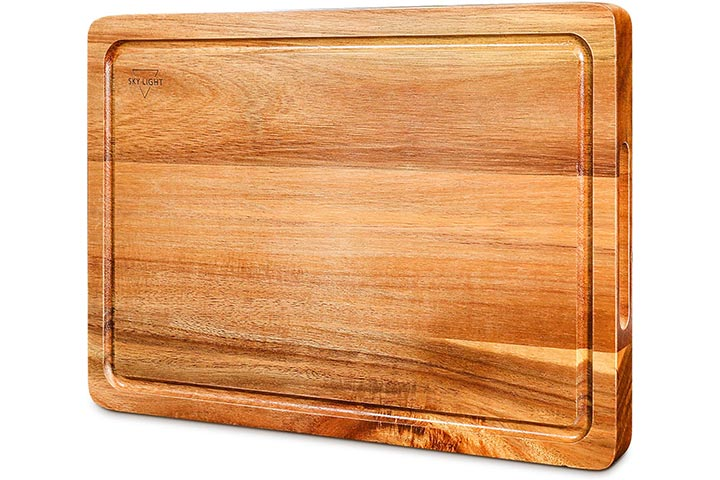 Sky Light Cutting Board, Wood Chopping Boards for Kitchen